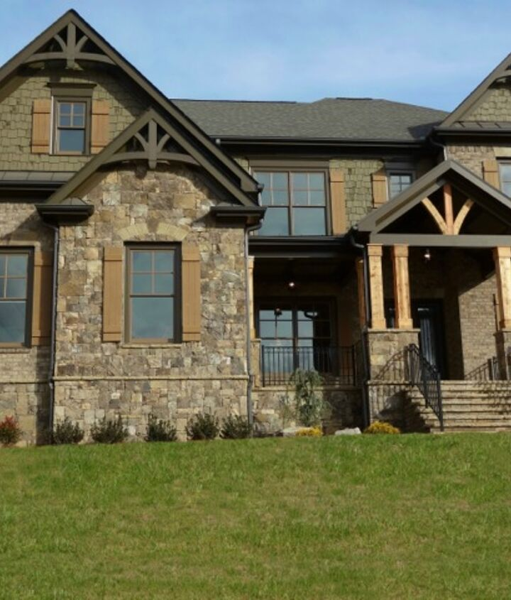 neo traditional homes, architecture, concrete masonry, curb appeal