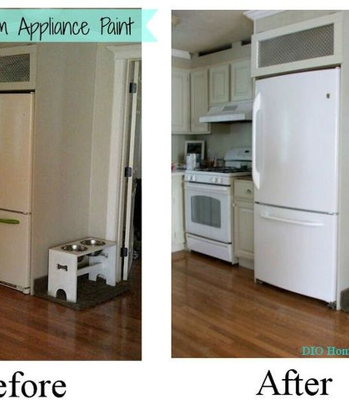 painting an appliance, appliances, painting
