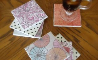 diy tile coasters easy and cheap, crafts, decoupage, They work great