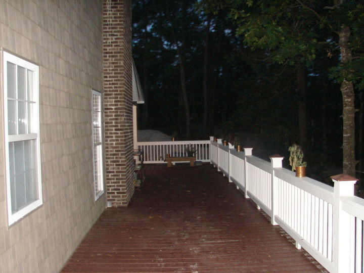 what do i do with a huge side porch, porches, View from the back to the front