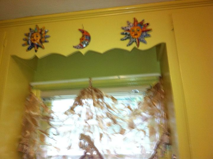 After paint job, and got up the new decoration and curtain over sink