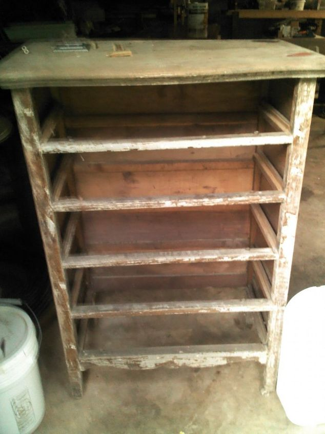 refinished this baby, painted furniture, Before