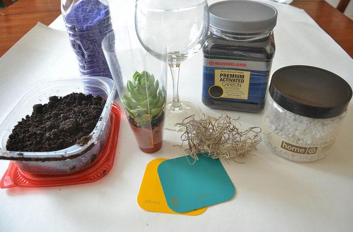 wine glass succulent planter, crafts, flowers, gardening, succulents