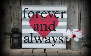 diy hand painted forever and always sign, crafts, painting