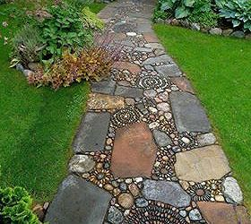 Q Want To Know The Source To Purchase Garden Path Stones That Look Like,  Concrete