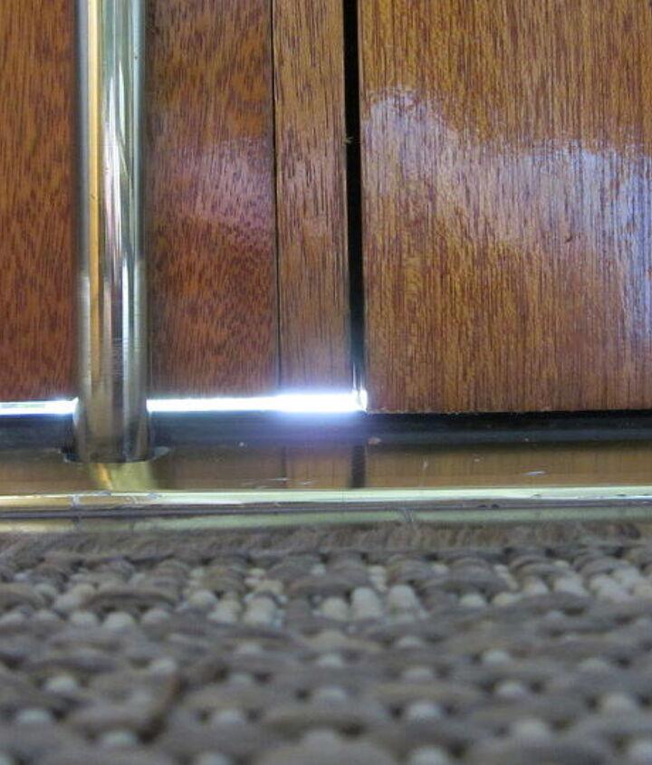 The space under my left double door.