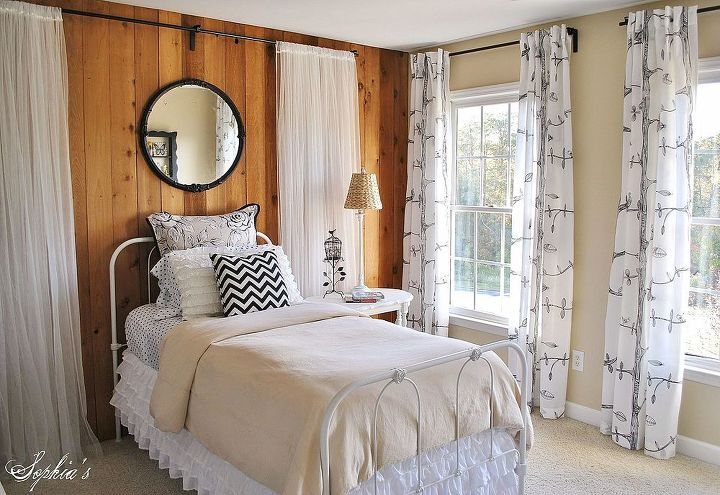 girls budget bedroom makeover, bedroom ideas, home decor