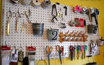 pegboard craft organization, organizing, storage ideas, Pegboard gives a visual to everything in my craft room