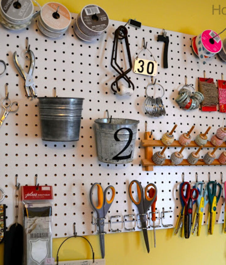 Pegboard gives a visual to everything in my craft room.