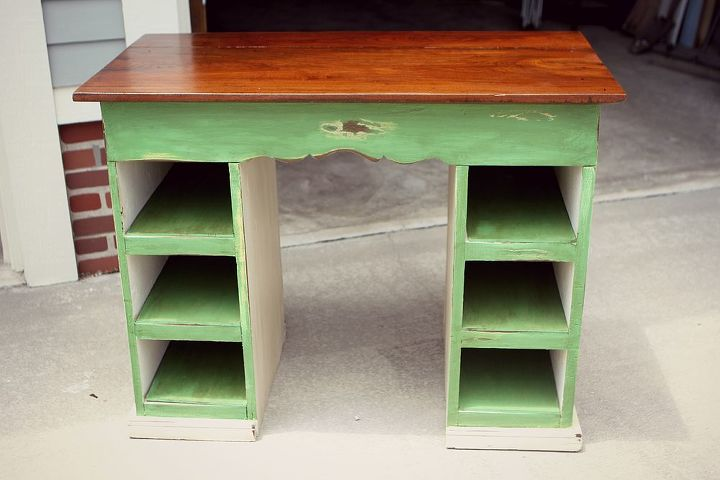 desk before and after, painted furniture