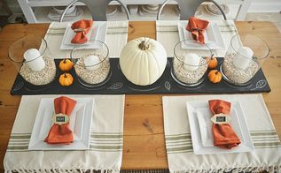 diy chalkboard table runner, chalkboard paint, crafts, seasonal holiday decor