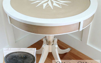 modern masters metallic paint makeover 3 thrifty table, painted furniture