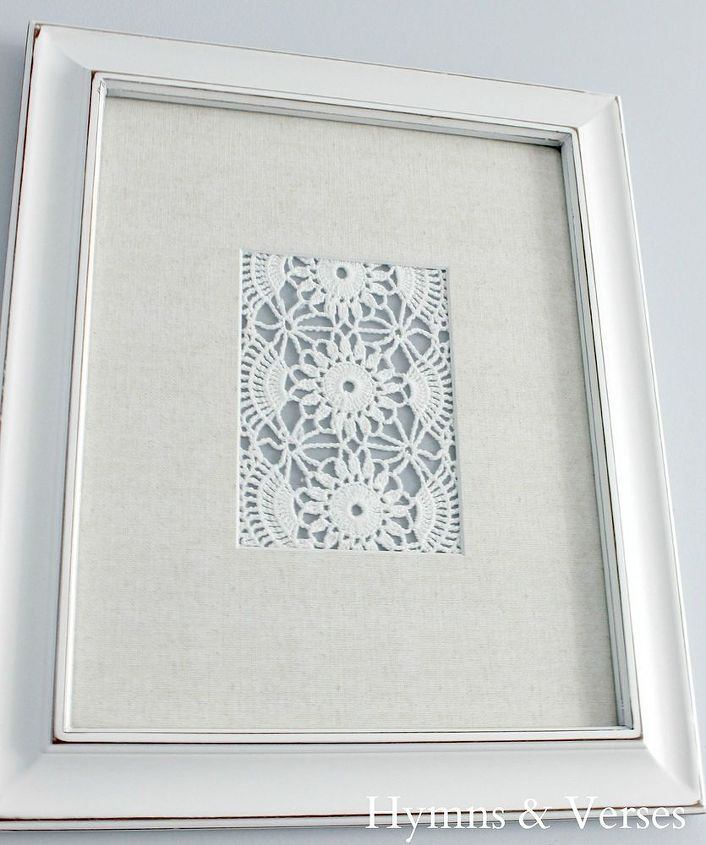 diy vintage doily art, crafts