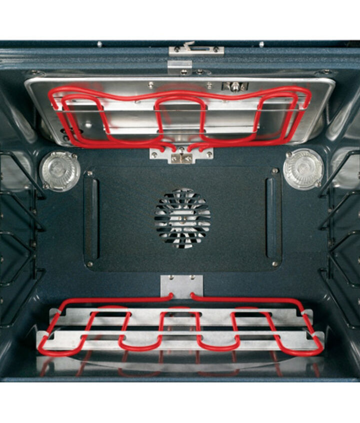 The Broil Element is located on the top of the oven.
