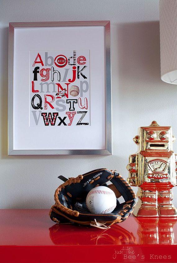A baseball alphabet print.