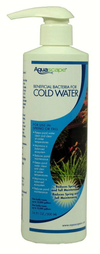 Tip #4 Add some Cold Water Bacteria to help keep your Pond looking good during the winter months.