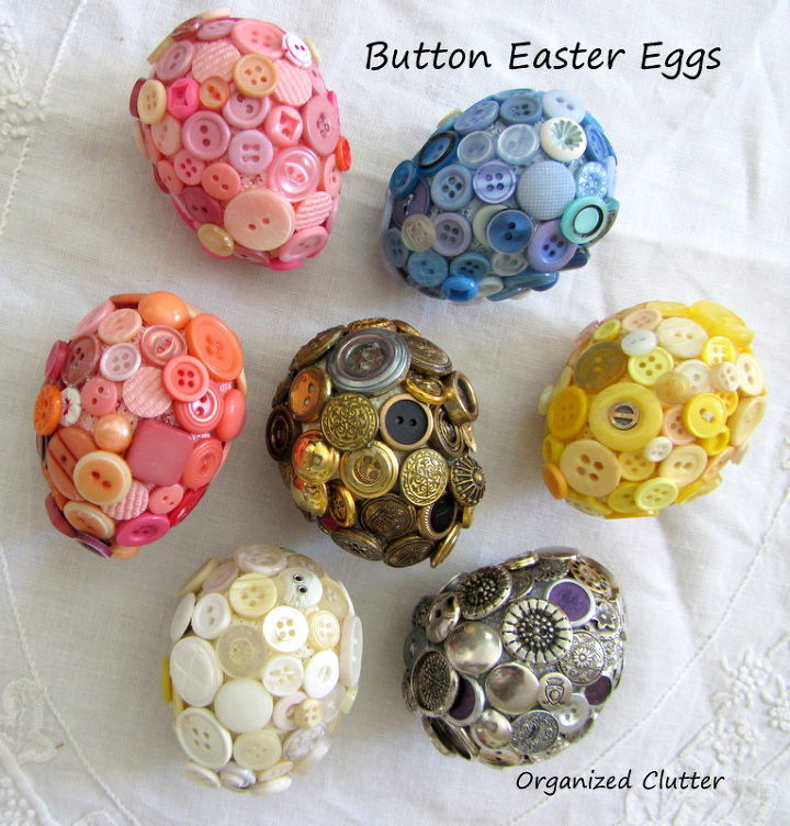 Here are the six button eggs I made in 2012.