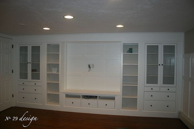 Wall Of Built Ins Out Of Ikea Hemnes Cabinets Hometalk