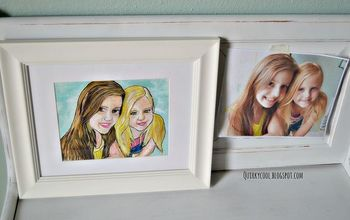 diy a hand painted photograph, crafts, home decor, painting