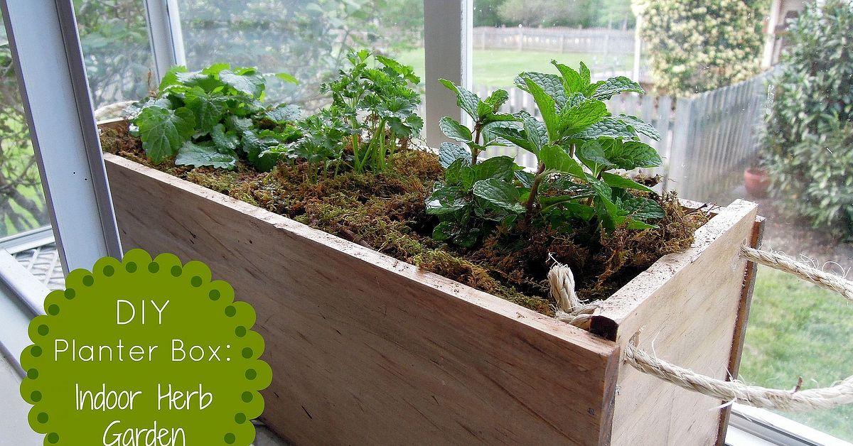 Herb Planter Box Outdoor: DIY Planter Box Herb Garden