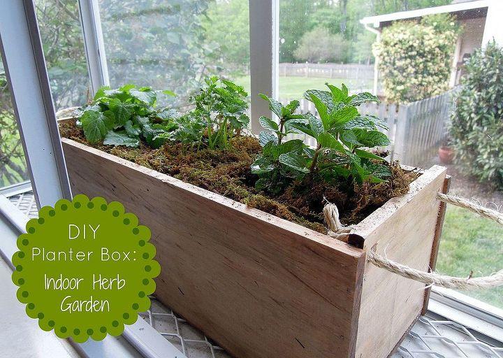 Diy Planter Box Herb Garden Gardening Easy Wooden To Grow