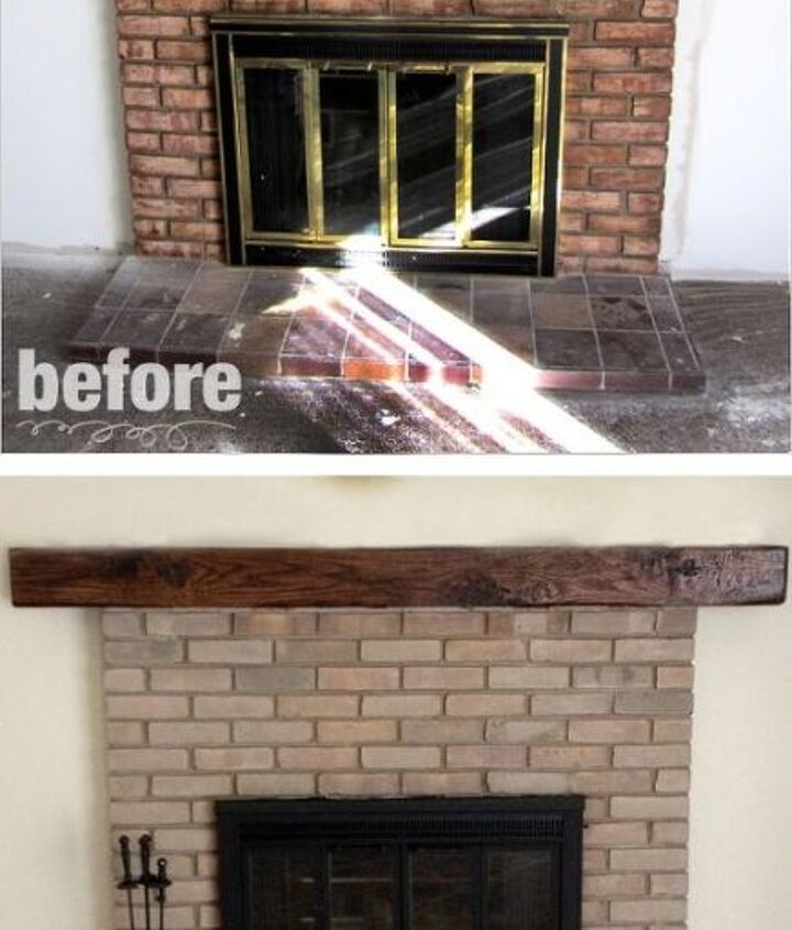 Fireplace Remodel | Paint & Stain  Hello fireplace! Do you think it's time to give your fireplace a little facelift? It's amazing to find out what a little paint and stain can do.