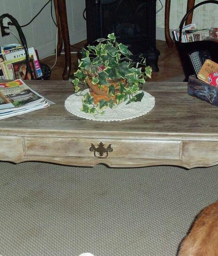 trash to treasure coffee table, painted furniture