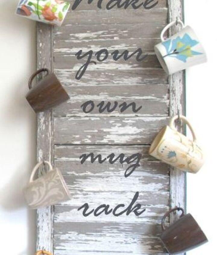 Make your own Mug Rack!