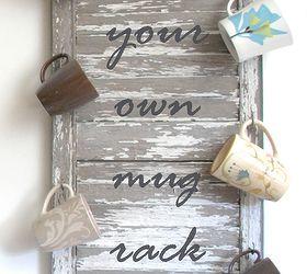 Re Purposed Shutter Mug Rack, Repurposing Upcycling, Storage Ideas, Make  Your Own Mug