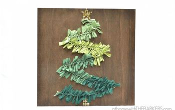 how to make a christmas tree wall art, crafts, seasonal holiday decor, Finished Christmas Tree