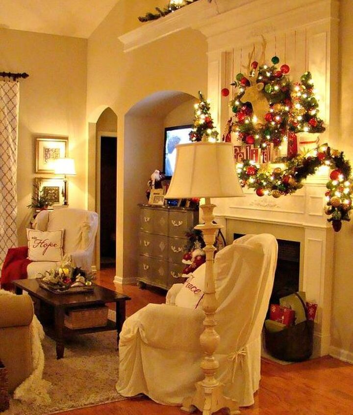 our 2012 christmas great room, christmas decorations, living room ideas, seasonal holiday decor