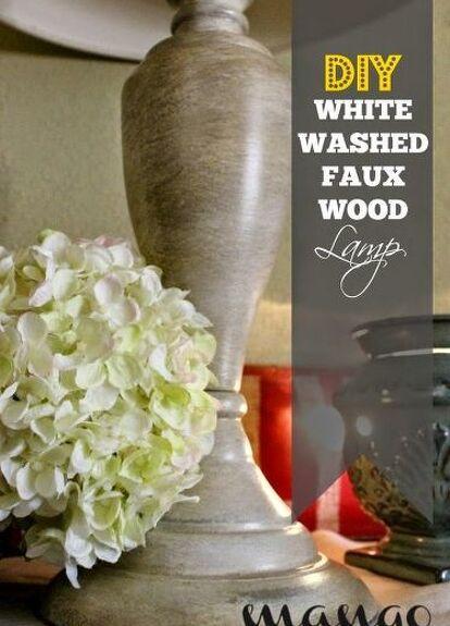 Diy White Washed Faux Wood Lamp Base Makeover Hometalk