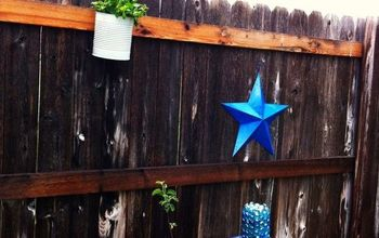 Making a Wooden Fence Pretty(ier)