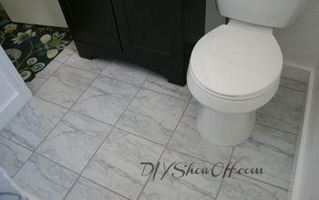 tiled bathroom floor apartment renovation, bathroom ideas, flooring, tile flooring, tiling, bathroom floor after