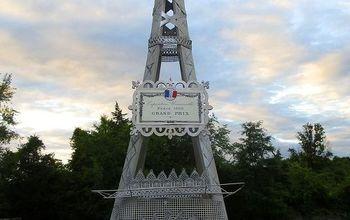 diy eiffel tower from garden trellis oo la la, crafts, home decor