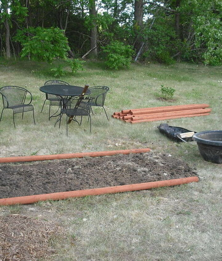 layout of cherry timbers for garden