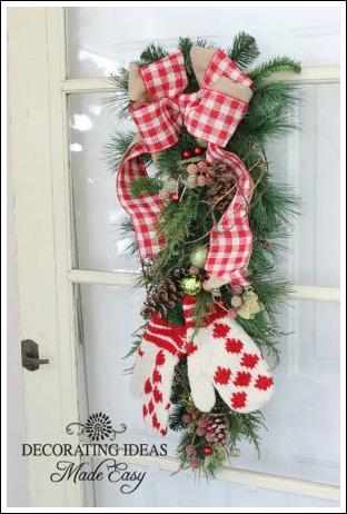 christmas door decoration christmas decorations crafts doors seasonal holiday decor i - Burlap Christmas Door Decorations