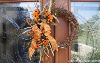 easy diy fall wreath, crafts, seasonal holiday decor, wreaths, Tada