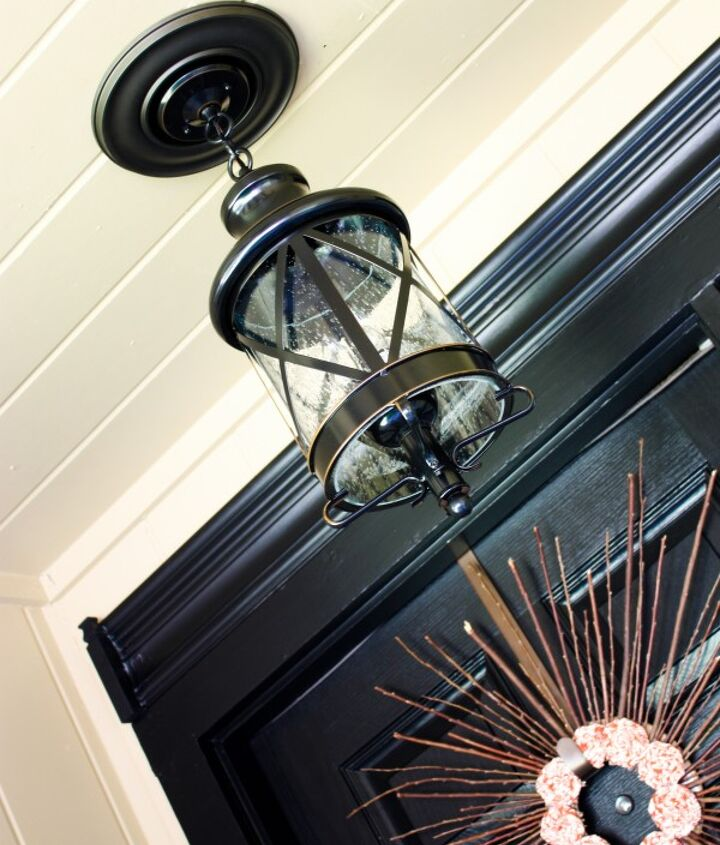 A much brighter, much more stylish new porch light from OSH.