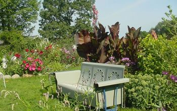 A old glider, the best seat in the garden.