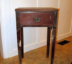 Antique Side Table Renewed With A Little Chalk Paint Amp Graphics, Chalk  Paint, Home