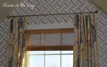diy faux bamboo shade, crafts, window treatments, windows
