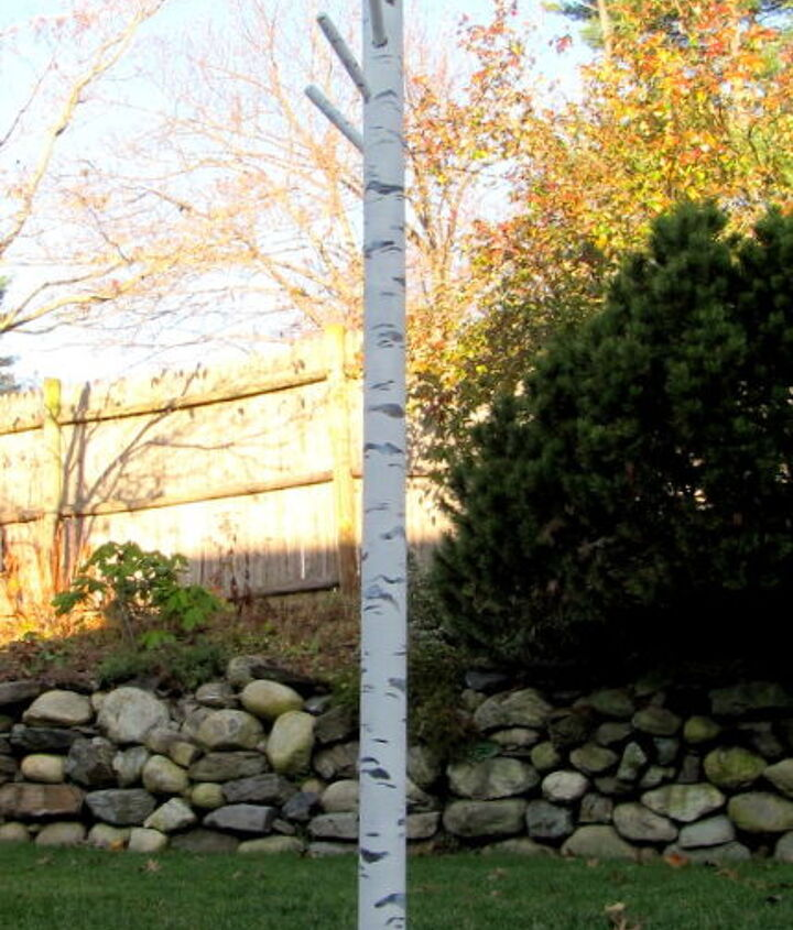 turning an ordinary coat rack into a birch tree, painting