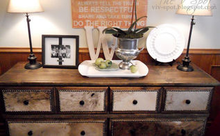 an ugly dresser gets a rustic make over, painted furniture, rustic furniture, reupholster