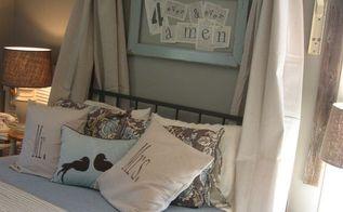an old ladder bed canopy, bedroom ideas, home decor, repurposing upcycling