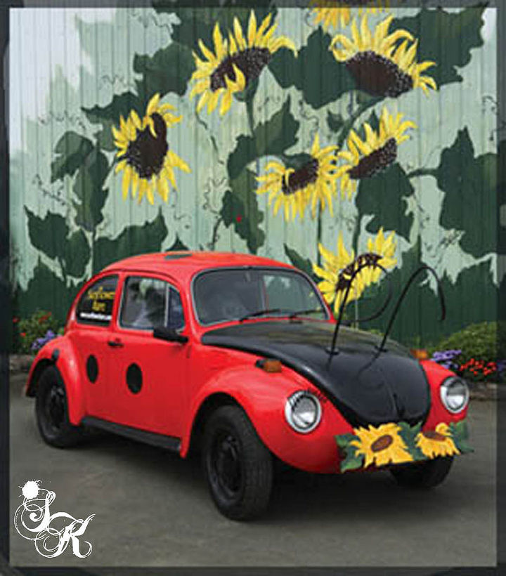 lady bug lady bug fly away home by sk sartell, painting
