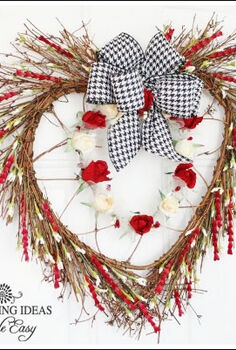 valentine decoration i made a wreath, crafts, seasonal holiday decor, valentines day ideas, wreaths, I love using twig wreaths they are fun and wispy