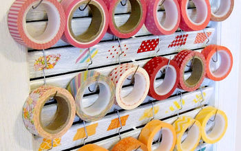 shutter washi tape holder, cleaning tips, craft rooms, repurposing upcycling