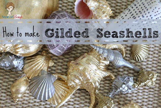 how to make gilded seashells, crafts
