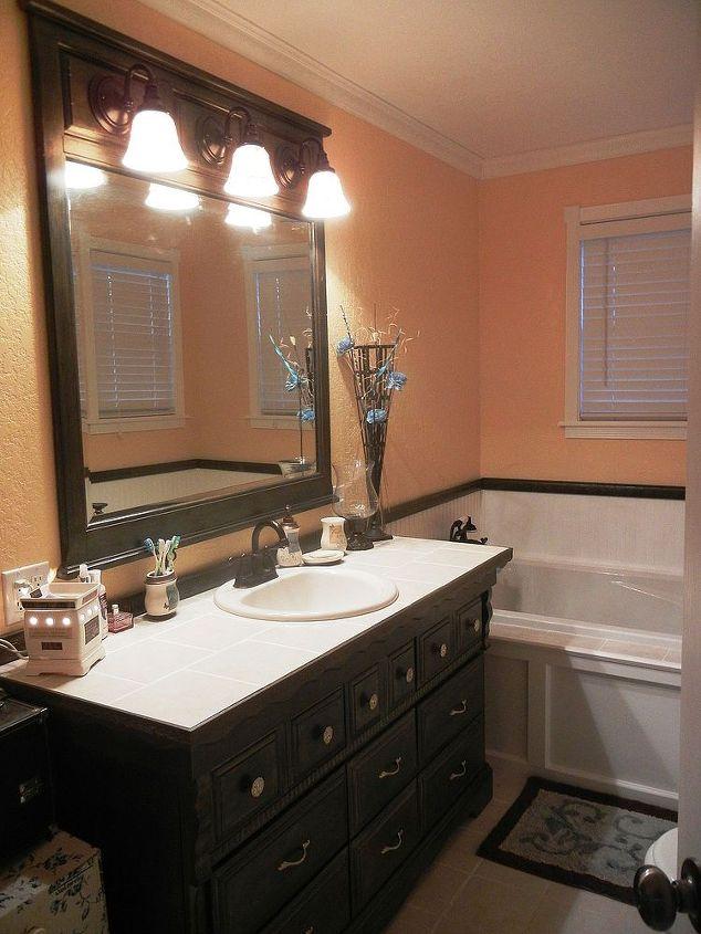 Dresser To Bathroom Vanity Hometalk - Dresser turned bathroom vanity for bathroom decor ideas
